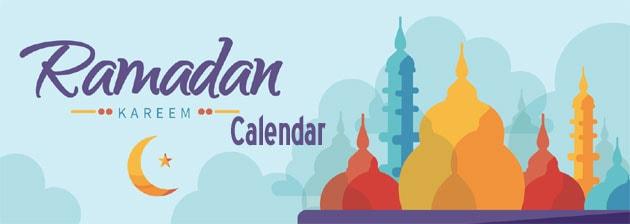 Ramadan Calendar Adelaide, Australia 2019